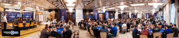 The bustling Sochi casino poker room