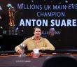 Anton Suarez Wins 2020 MILLIONS UK Main Event For $1 Million