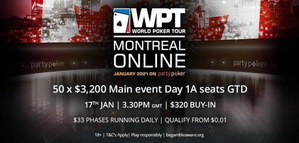 WPT Montreal: este domingo hay Mega Satélite y Día 1A del Main Event