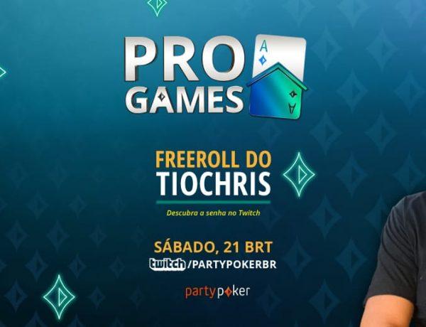 Sucesso ensinando poker a iniciantes, TioChris comanda freeroll de $ 500 neste sábado; jogue e assista ao vivo na Twitch